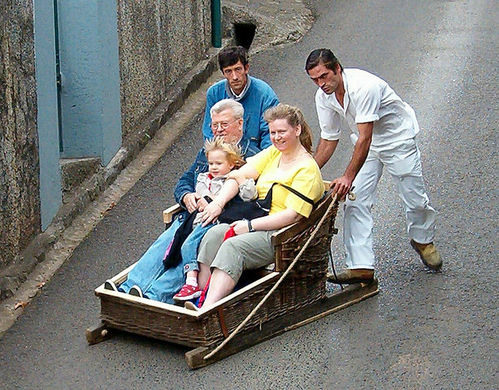 Toboggan Ride from Monte to Funchal
